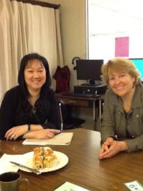 ELL District Helping Teacher, Janice Lam with Cheryl