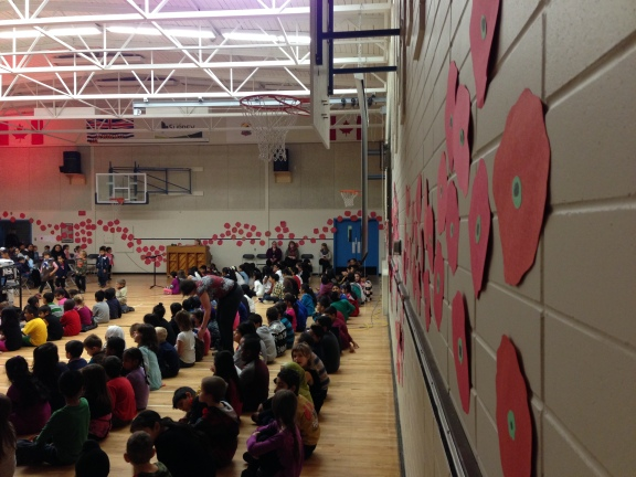 Poppies at our Remembrance Day Assembly.