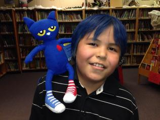 blue hair pete the cat
