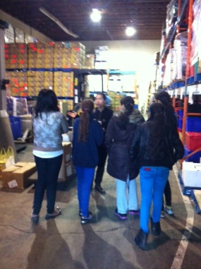 Student leaders donate food to the Surrey Food Bank