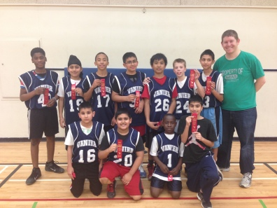 Congratulations Boys Basketball team on a great season of skill development and a 2nd place playday finish on February 19, 2014.