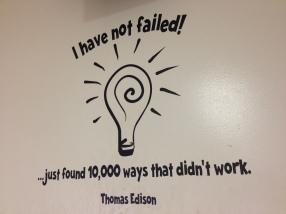 Failure = Learning