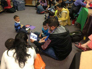 Father and son learning together at StrongStart.