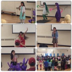 Students perform at the Parent Appreciation Tea.