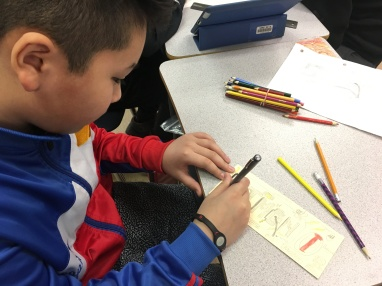 Div. 6 students express their identity by creating updated name tags for their desks