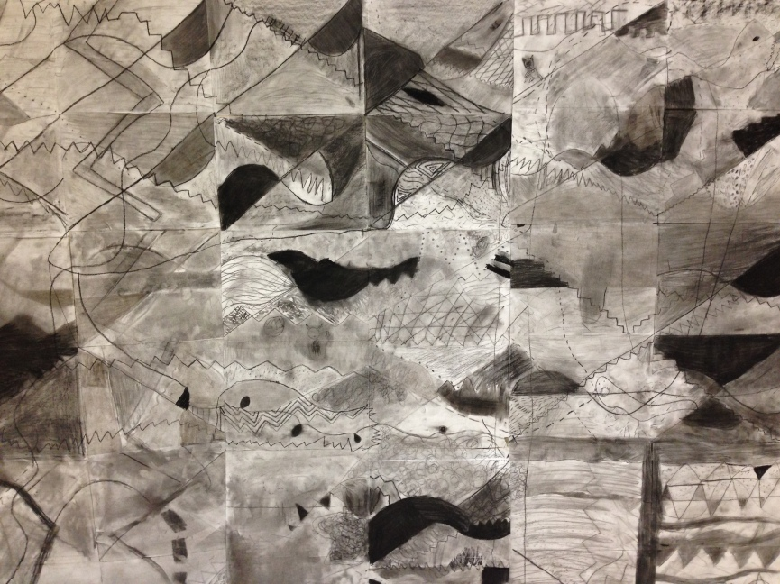 Abstract Charcoal Art Div. 3&4