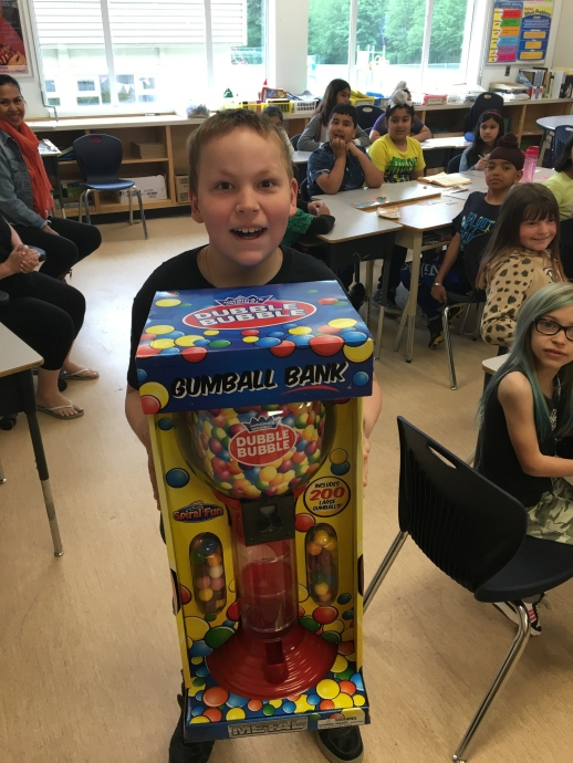 Chocolate Fundraiser gum ball machine prize!